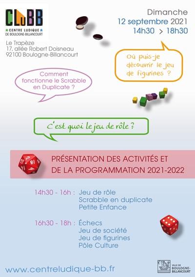Affiche de la journée de présentation des activités